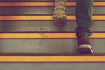 Trappträning i trappor är bra för hälsan